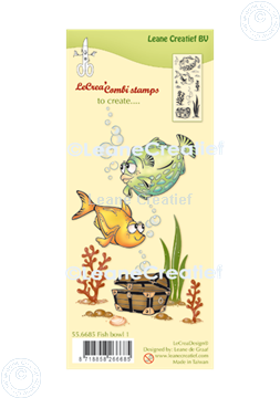 Picture of LeCreaDesign® combi clear stamp Fish 1.