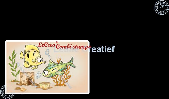 Image sur LeCreaDesign® combi tampon clair Poissons 1.