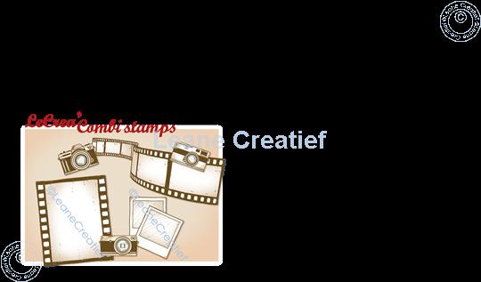Image sur LeCreaDesign® deco tampon clair Caméras, bande de film & photos