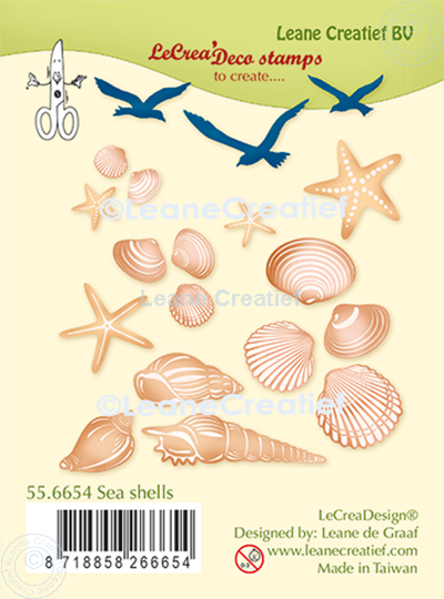 Image sur LeCreaDesign® deco tampon clair Coquilles de mer