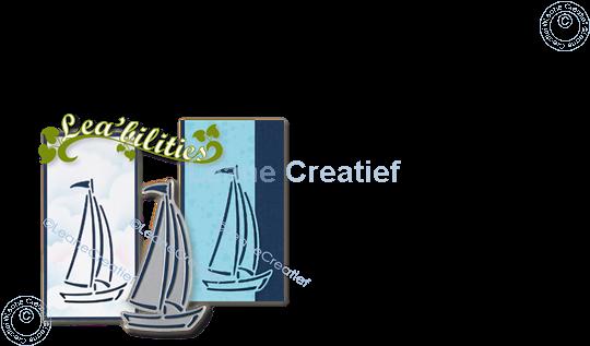 Afbeelding van Lea'bilitie® Silhouet zeilboot snij mal