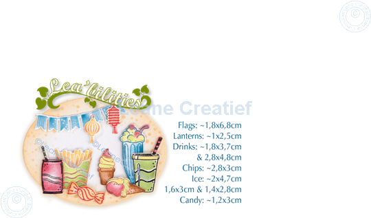 Image sur Lea'bilitie® Party & snacks matrice pour découper & gaufrage