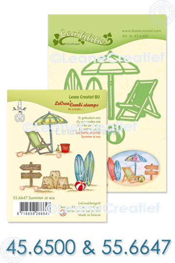 Afbeelding van Set Lea'bilitie & Clearstamp Summer at sea