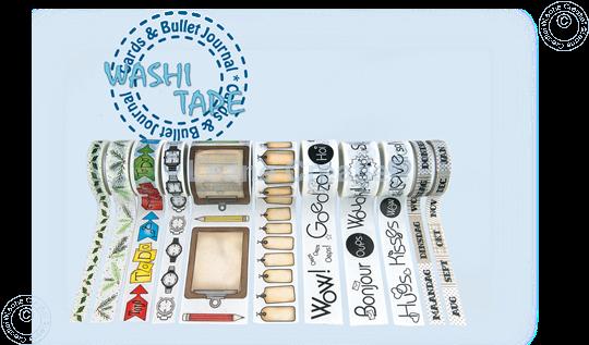 Afbeelding van Washi tape Hulstblaadjes, 10mm x 5m.