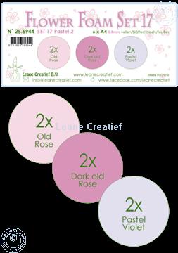 Image de Flower Foam set 17 /6x feuille A4/3 couleurs Pastel 2