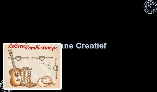 Afbeelding van LeCreaDesign® combi clear stamp Cowboys en Line dance