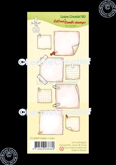 Image sur LeCreaDesign® tampon clair à combiner Mak a note