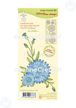 Picture of LeCreaDesign® deco clear stamp Cornflower 3D