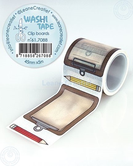 Afbeelding van Washi tape Clip boards, 45mm x 5m.