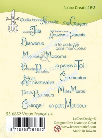 Picture of LeCreaDesign® combi clear stamp French words 4.
