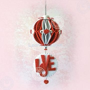 "Picture of Glitter foam ball 'Love"""