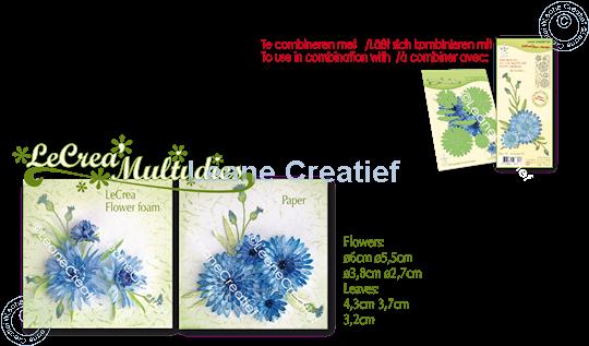 Picture of Set Multi die & Clearstamp Cornflower 3D