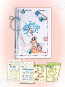 Picture of Snail baby card