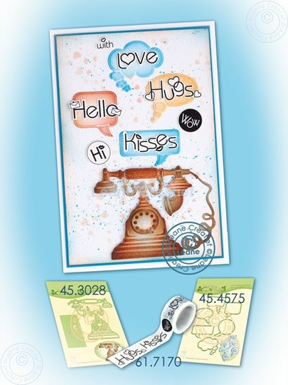 Picture of Washi tape words & telephone