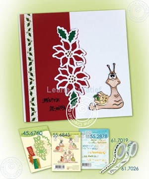 Image de Snail Poinsettia card