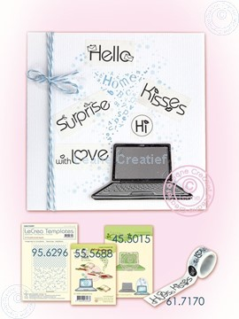 Picture of Laptop with Washi text