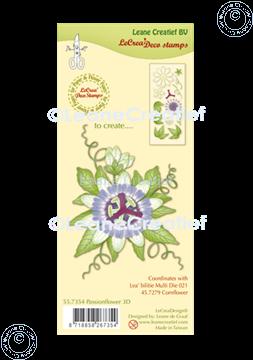 Afbeeldingen van LeCreaDesign® combi clear stamp Passiebloem 3D