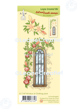 Picture of LeCreaDesign® combi clear stamp Window with climbing plant