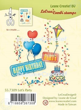 Bild von LeCreaDesign® Kombi Silikon Stempel Let's Party