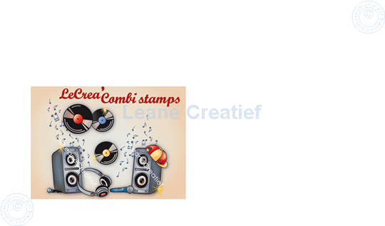 Bild von LeCreaDesign® Kombi Silikon Stempel Diskjockey Tanz Party