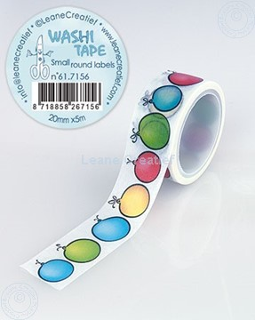 Image de Washi tape petit labels rondes, 20mm x 5m.