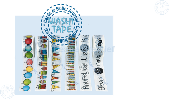 Afbeelding van Washi tape Cadeautjes & Cupcakes, 20mm x5m.