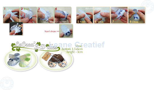 Image sur Lea'bilitie® Baby chaussure- pantoufle matrice pour découper