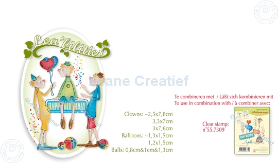 Picture of Lea'bilitie® Clowns cut and embossing die