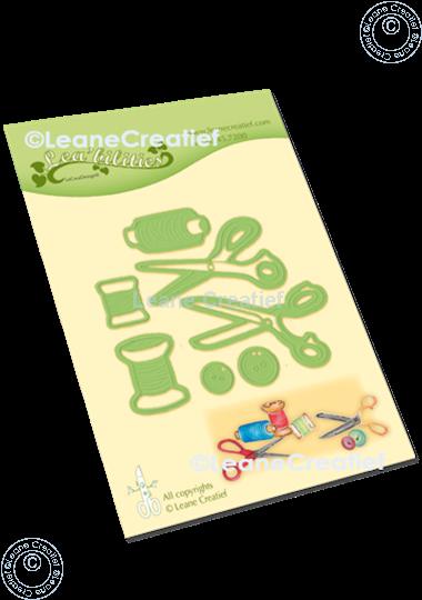 Image sur Lea'bilitie®  Aiguille, fil & ciseaux matrice pour découper & gaufrage