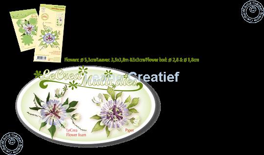 Bild von Set Multi die & Clear stamp Passion flower  3D