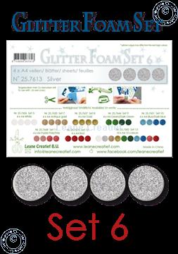 Image de Glitter Foam set 6, 4 feuilles A4 Argent