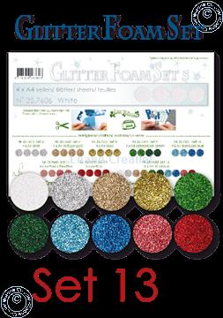 Image de Glitter Foam set 13, 10 feuilles A4 couleurs différentes