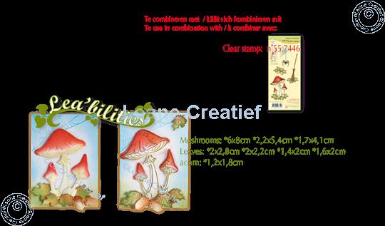 Image sur Lea'bilitie® Automne - Champignons matrice pour découper & gaufrage