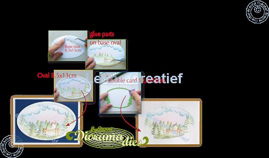 Image sur Lea'bilitie® Diorama de Paysage d'hiver matrice pour découper & gaufrage