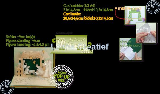 Image sur Lea'bilitie® Scène de la Nativité matrice pop-up pour découper & gaufrage