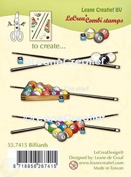 Afbeeldingen van LeCreaDesign® combi clear stamp Biljarten