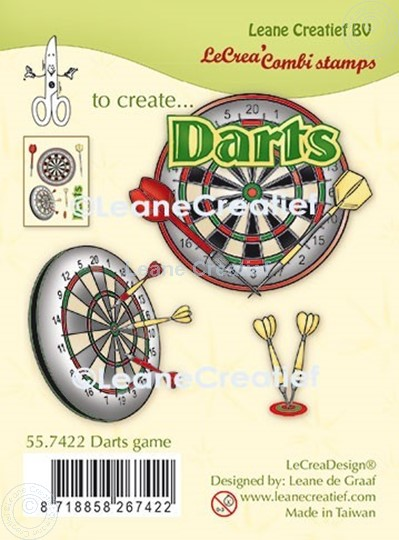 Picture of LeCreaDesign® combi clear stamp Darts game