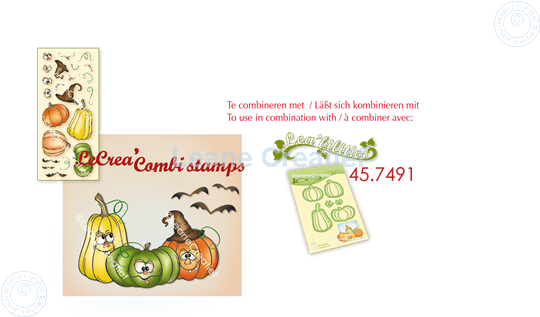 Afbeelding van LeCreaDesign® combi clear stamp Pompoenen