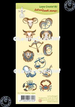 Afbeeldingen van LeCreaDesign® combi clear stamp Sterrenbeeld tekens