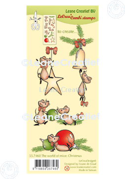 Picture of LeCreaDesign® combi clear stamp The world of mice Christmas