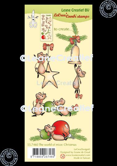 Bild von LeCreaDesign® Silikon Kombi Stempel  The world of mice Weihnachten