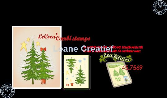 Image sur LeCreaDesign® tampon clair à combiner Sapins de Noël