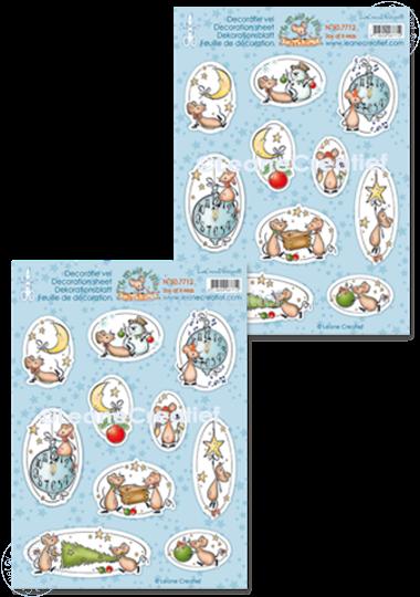 Image sur Feuilles de décoration The World of Mice, Joy of X-Mas