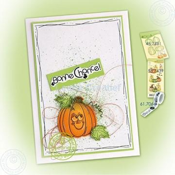 Picture of Pumpkin on splatter background